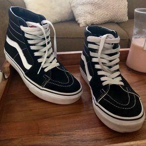 Vans Black/White Sk8-Hi (High tops)